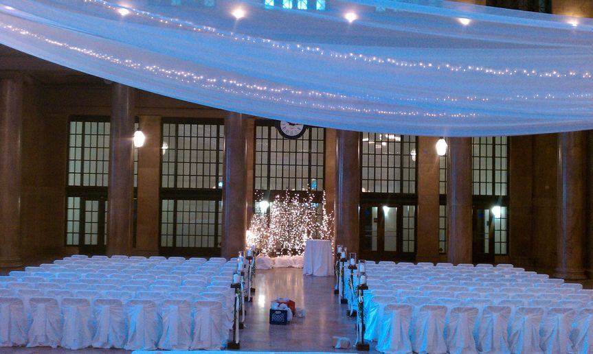 Indoor wedding area