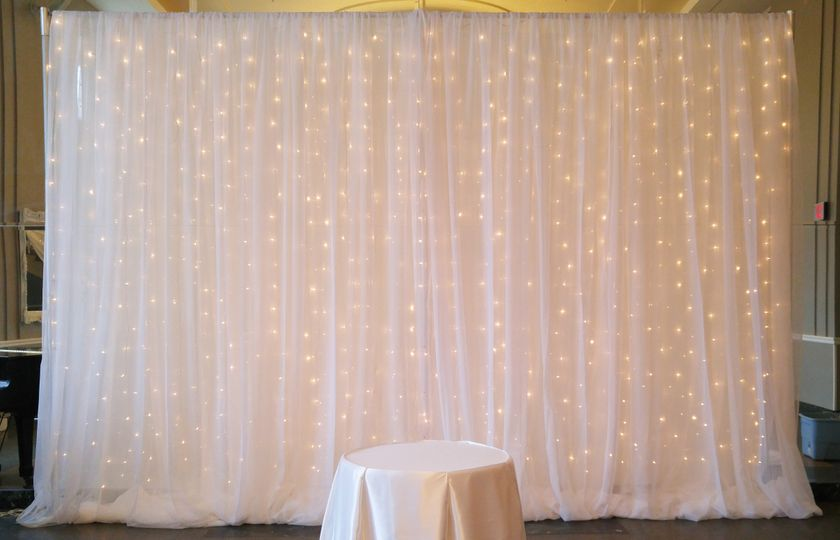 White curtain with lights