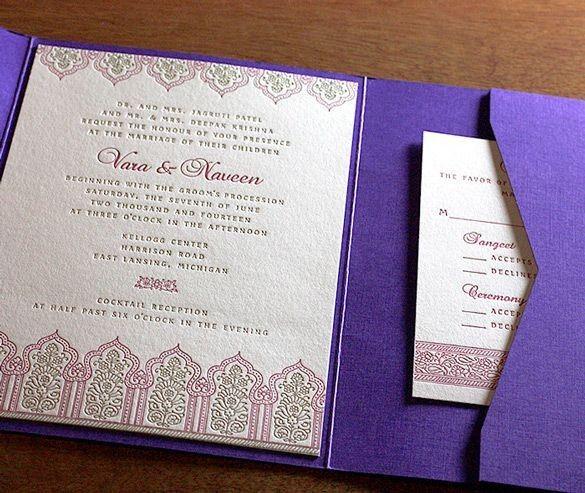 Violet invitations