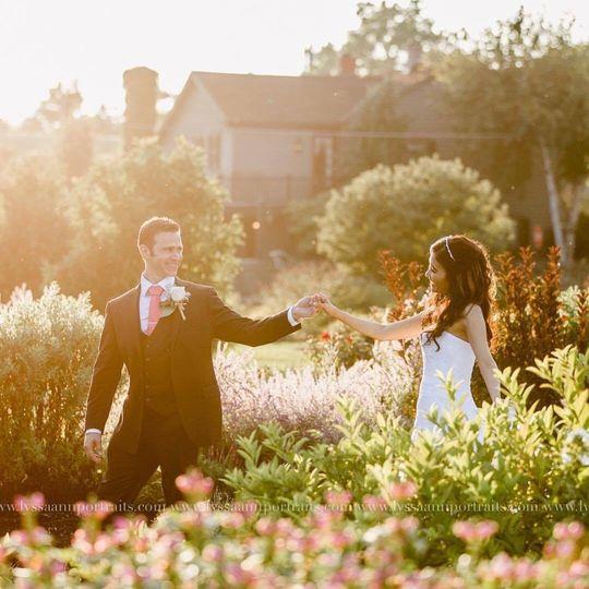 Falling for a garden Wedding