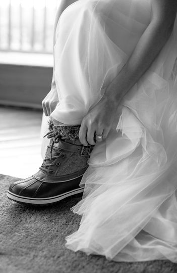 A bride in boots - Allie & John Photography