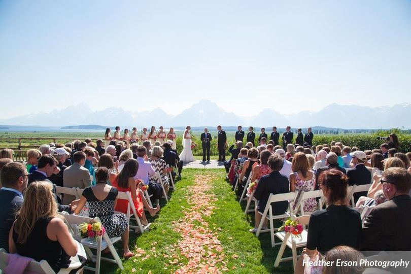 Jackson Lake Lodge Wedding Ceremony Amp Reception Venue