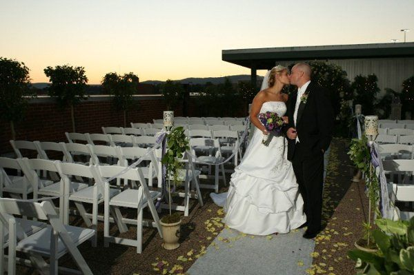 The Spa Terrace: Outdoor Ceremony with Views of Downtown and Lookout Mountain