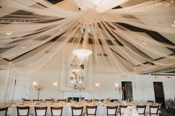 Indoor wedding reception venue