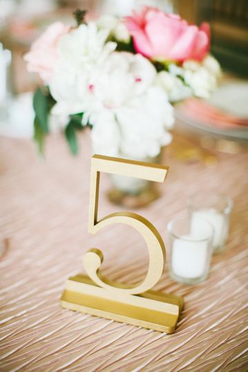 True Gold Table Numbers