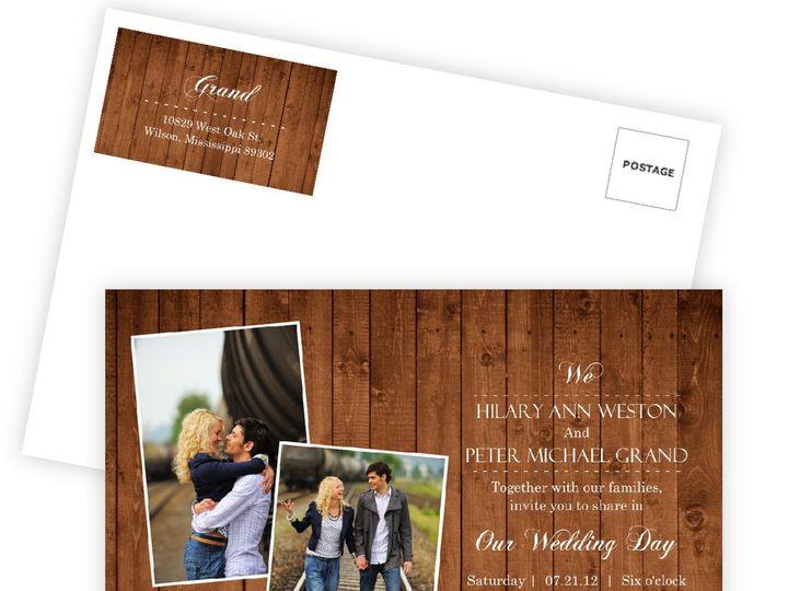 Tmx 1361915342598 WeddingWireInviteWoodenPicturePerfectLove Issaquah wedding invitation