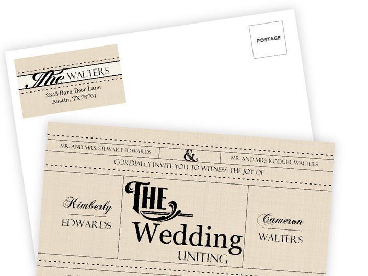 Tmx 1361915351700 WeddingWireInviteWesternLove Issaquah wedding invitation