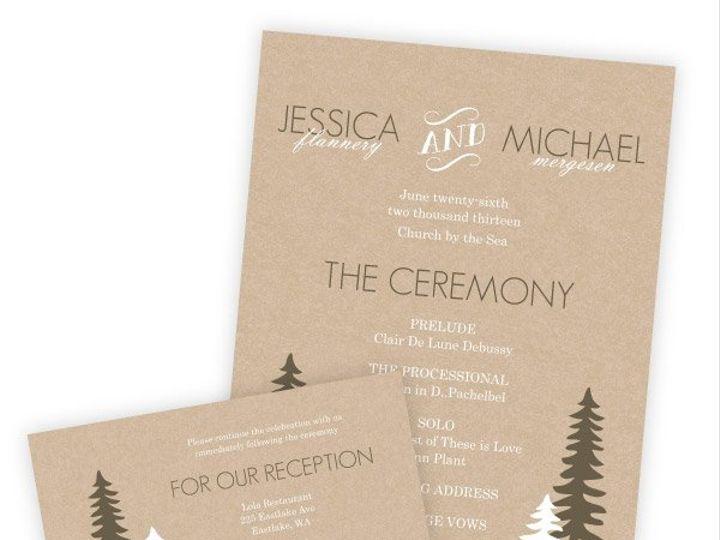 Tmx 1362012458512 WeddingWireSmallSetRusticPineTrees Issaquah wedding invitation