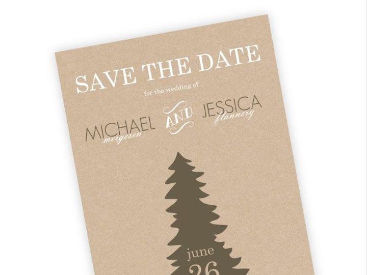 Tmx 1362012515045 WeddingWireSavetheDateRusticPineTrees Issaquah wedding invitation