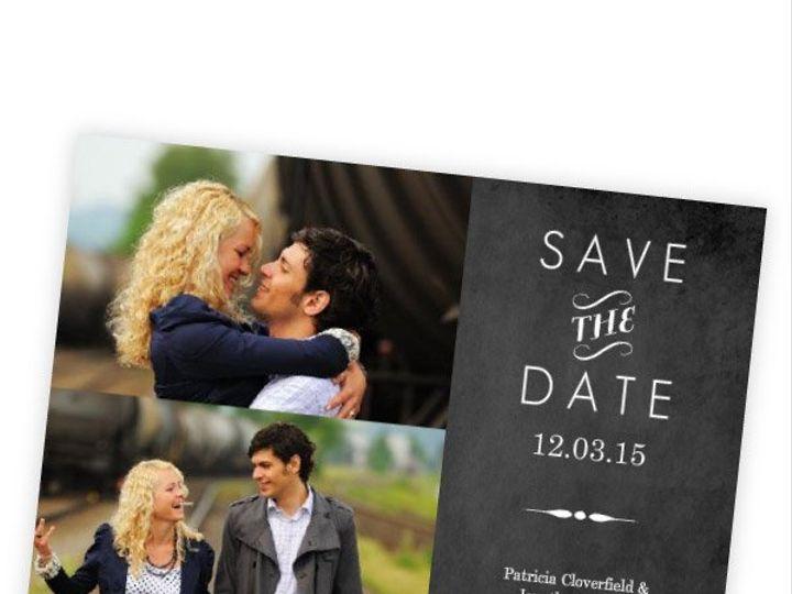 Tmx 1362012796665 WeddingWireSavetheDateVintageChalkboard Issaquah wedding invitation