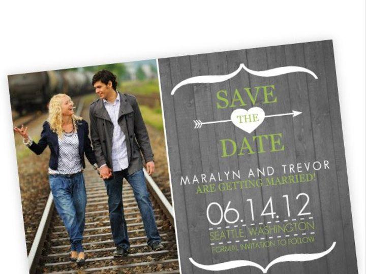 Tmx 1362012800014 WeddingWireSavetheDateModernRusticGrayWhite Issaquah wedding invitation