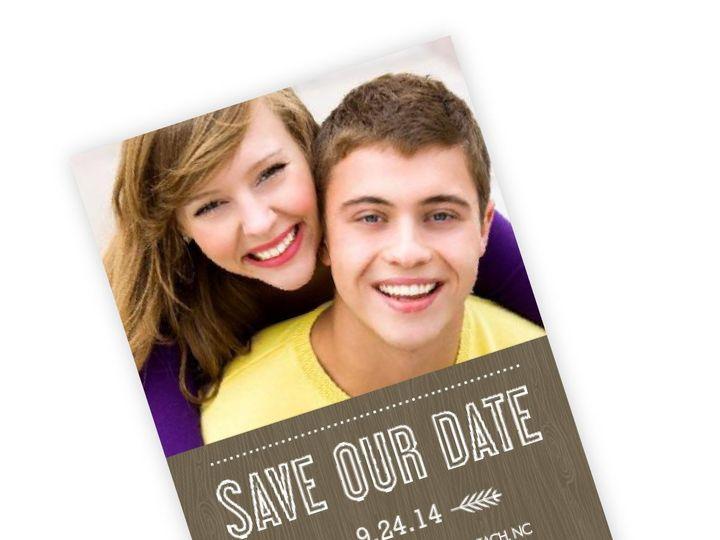 Tmx 1362012802931 WeddingWireSavetheDateWoodGrainRustic Issaquah wedding invitation