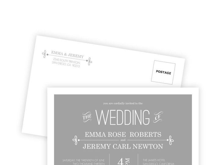 Tmx 1362014146499 WeddingWireInviteSetGrayWhimsical Issaquah wedding invitation