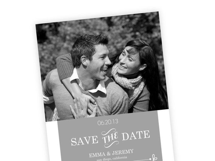 Tmx 1362014185157 WeddingWireSavetheDateGrayWhimsical Issaquah wedding invitation