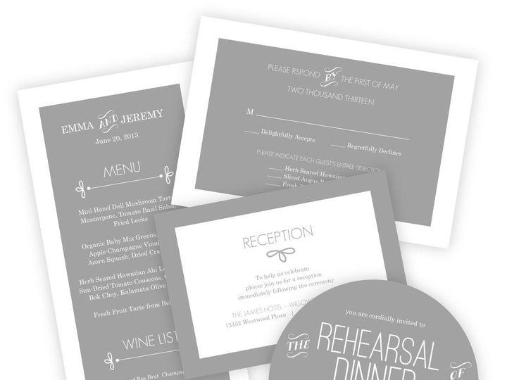 Tmx 1362014209382 WeddingWireSmallSetGrayWhimsical Issaquah wedding invitation