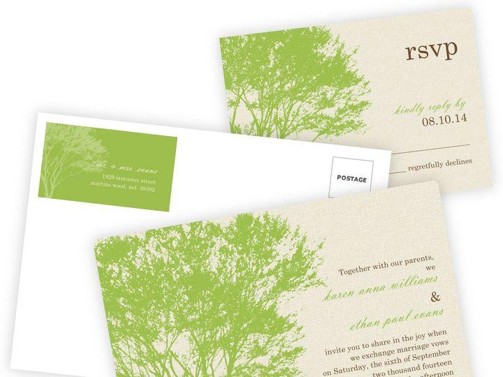 Tmx 1362014794151 WeddingWireInviteSetCreamGreenRusticTree Issaquah wedding invitation