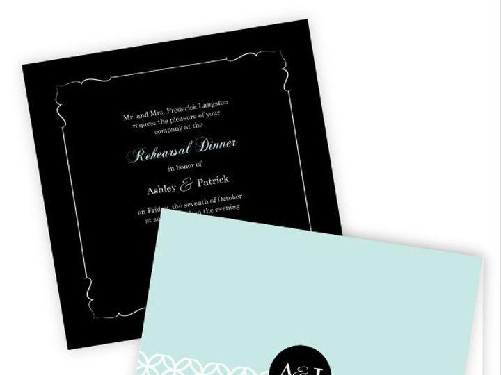 Tmx 1362084019572 WeddingWireSmallSetTurquoiseMonogram Issaquah wedding invitation