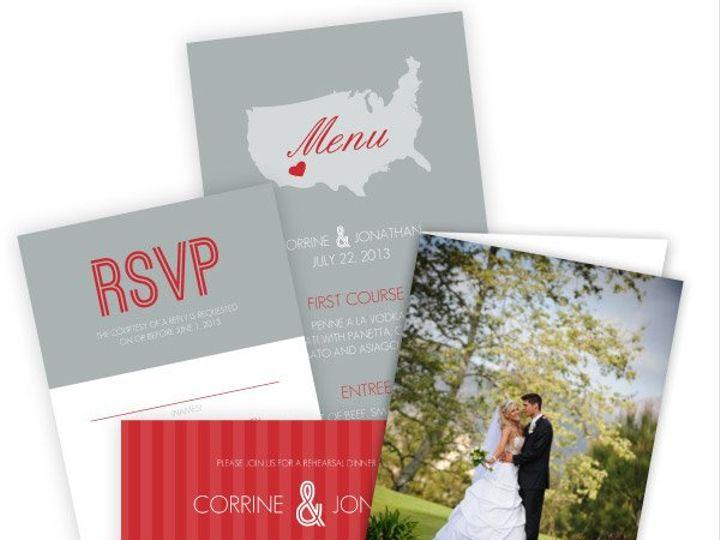 Tmx 1362084021504 WeddingWireInviteRedandGrayJourney Issaquah wedding invitation