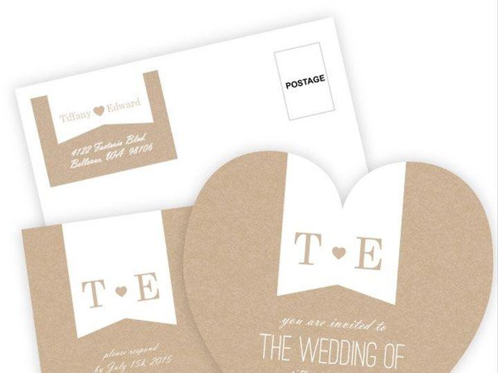 Tmx 1362084138579 WeddingWireInviteSetKraftHeart Issaquah wedding invitation