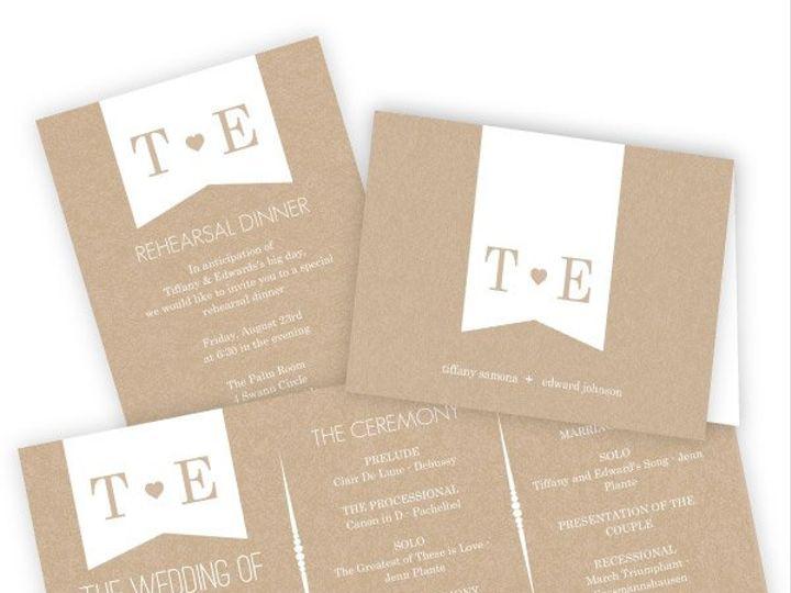 Tmx 1362084249981 WeddingWireSmallSetKraftHeart Issaquah wedding invitation