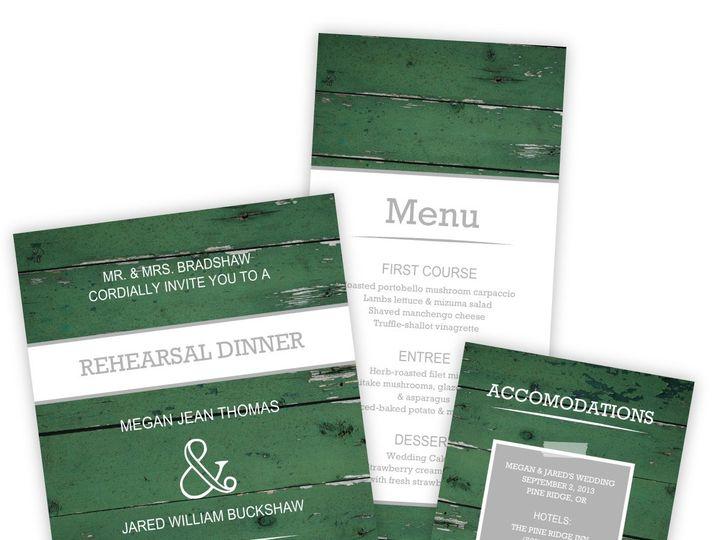 Tmx 1362091301523 WeddingWireSmallSetGreenWoodGrainPhoto Issaquah wedding invitation