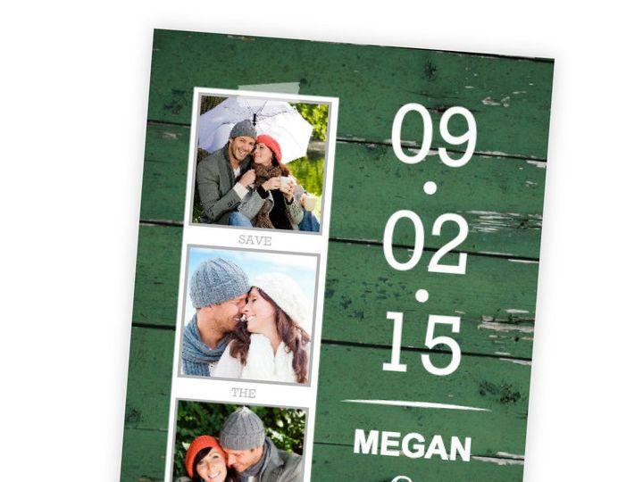 Tmx 1362092217872 WeddingWireSavetheDateGreenWoodGrainPhoto Issaquah wedding invitation