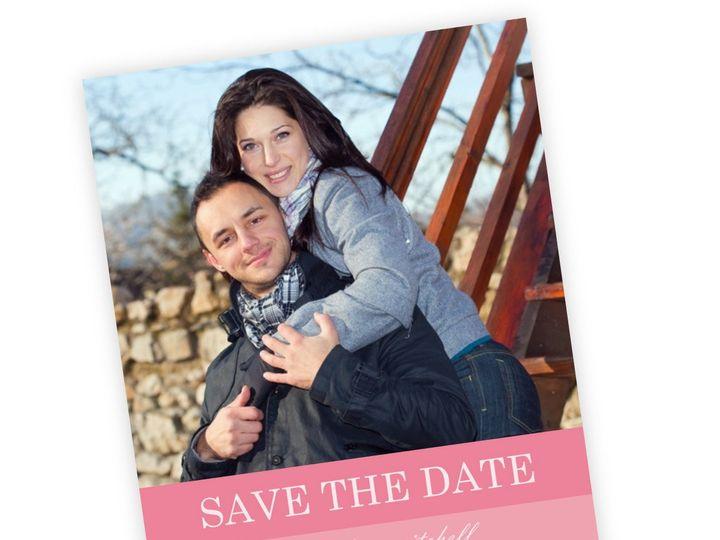 Tmx 1362092221609 WeddingWireSavetheDatePinkOmbre Issaquah wedding invitation