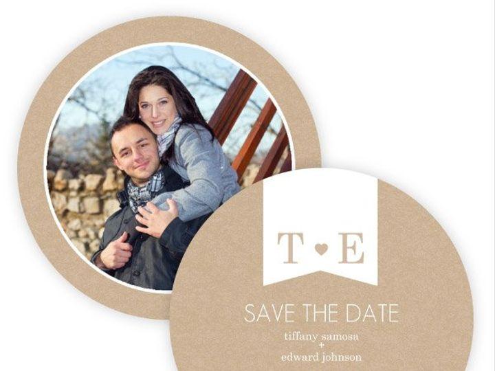 Tmx 1362092227707 WeddingWireSavetheDateKraftHeart Issaquah wedding invitation