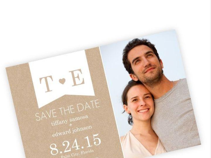 Tmx 1362092386408 WeddingWireSavetheDateKraftHeartMagnet Issaquah wedding invitation
