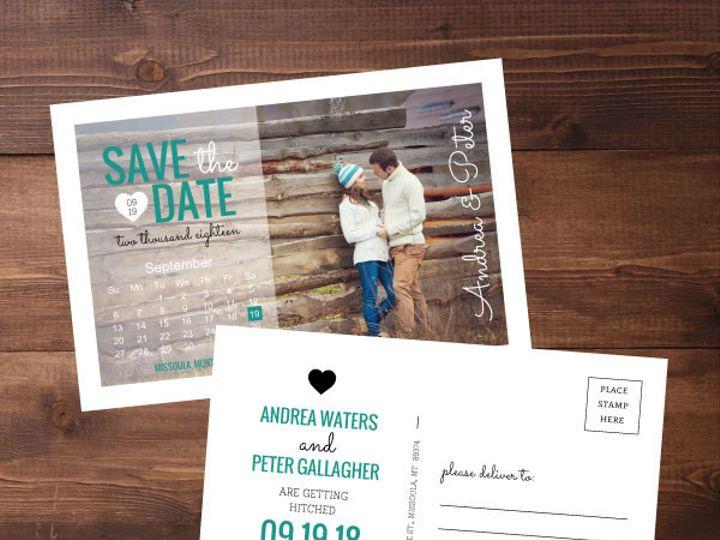 Tmx 1424820385770 Savethedates7 Issaquah wedding invitation