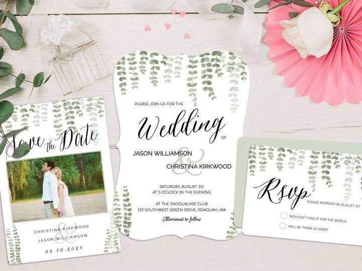 Tmx 2 1579289001 51 498943 157964890167411 Issaquah, WA wedding invitation