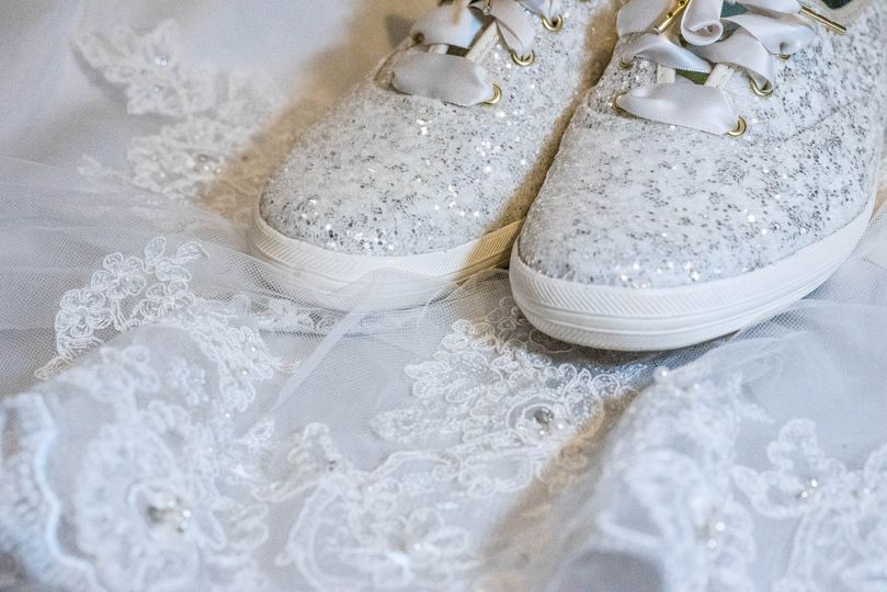 Sparkly shoes and lace