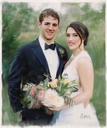 Bride & groom painting