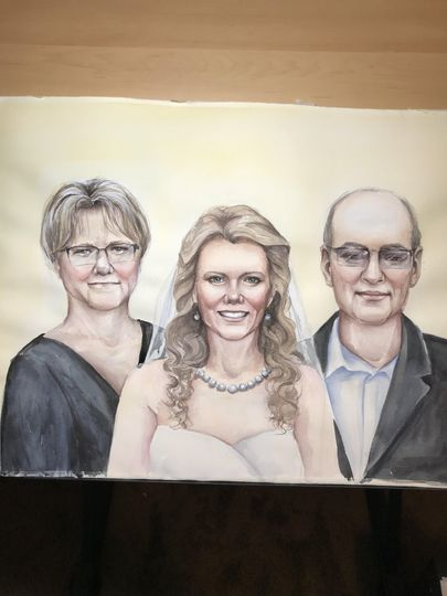 Family wedding painting