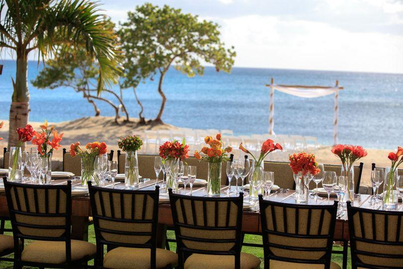 w beach house lawn long table 2