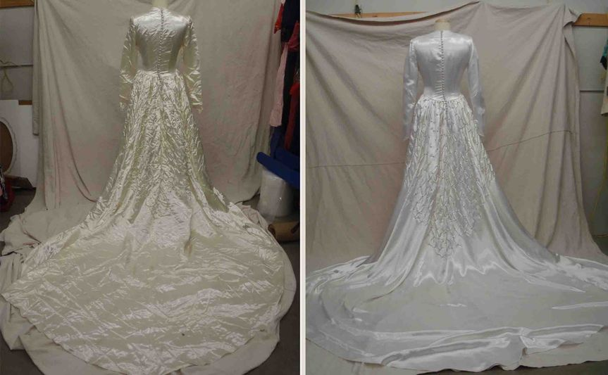 Treasured garment restoration by st croix cleaners dress for Wedding dress preservation minneapolis