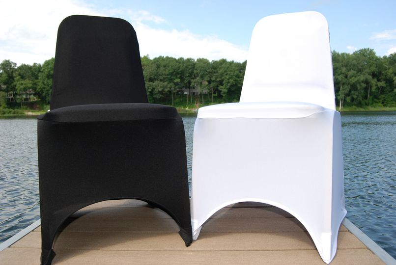 Simply Chic offers these two great options for chair covers at your ceremony and/or reception!