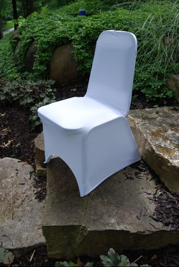 A white chair cover is a traditional and formal product to set the right mood at your reception.