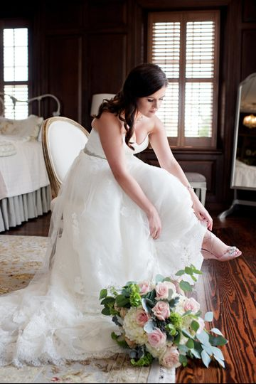 Bride in her suite