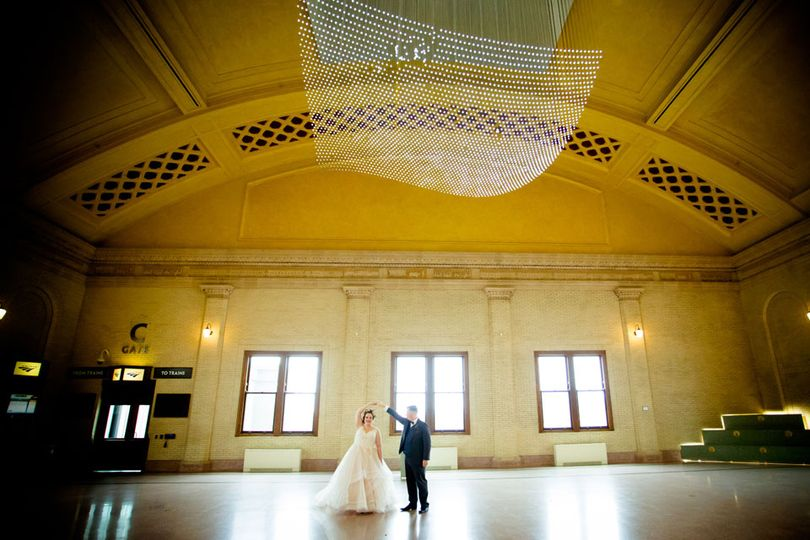 Bride and Groom at Union Depot