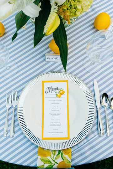 Spring brunch place setting