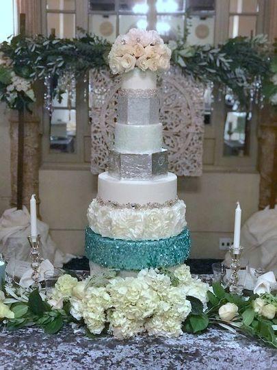 Ocean blue cake