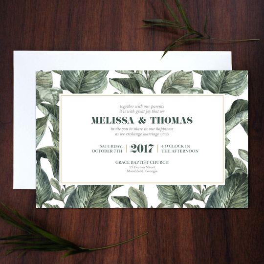 invite banana leaf