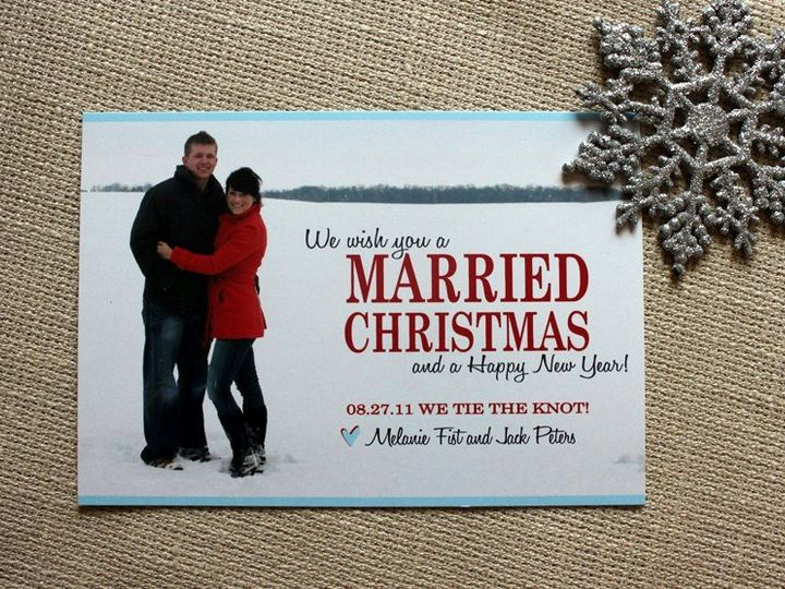 Tmx 1354860434871 MaRRIEDChristmas Denver wedding invitation