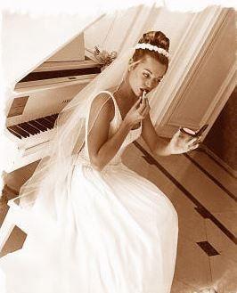 Bridal portrait vintage