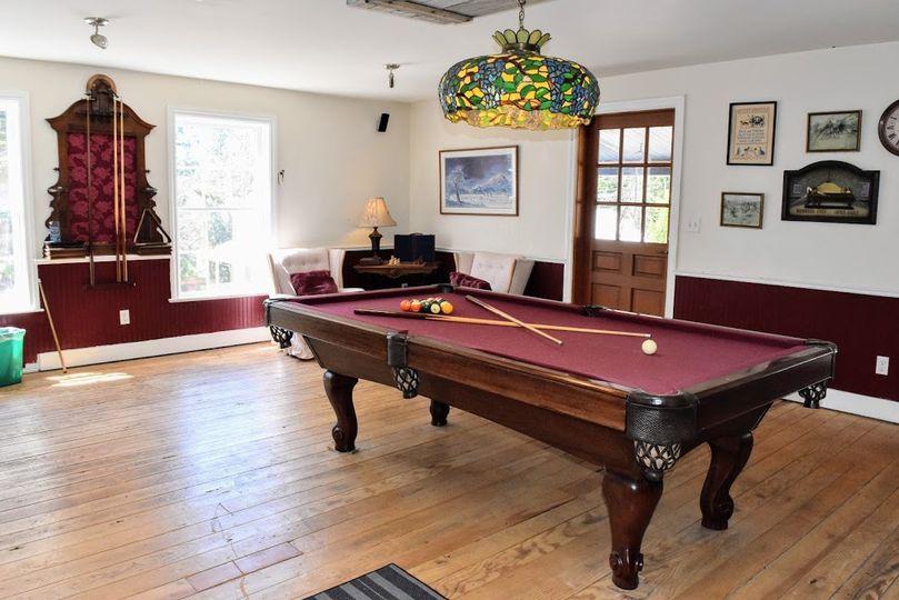 Pool room on 3rd floor