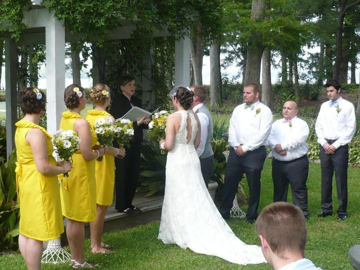 Outdoor Ceremony Pond House Inn Elizabeth City, NC