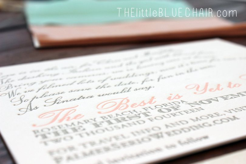 custom letterpress save the dates
