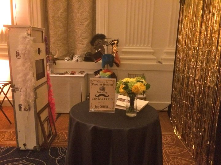 "The ""White Tower"" Photo Booth is always a crowd favorite! Featuring premium props and customized..."