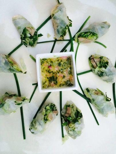 Veggie spring rolls